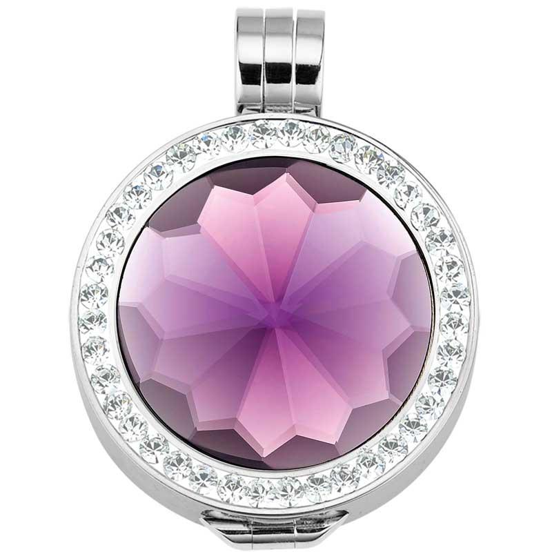 lila-coin-in-fassung-mit-kristallen
