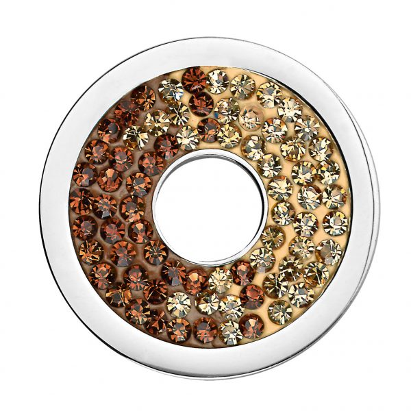 CS182 CEM Coin mit Kristallen gelb-braun 4200436