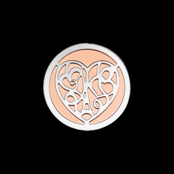 Coin Edelstahl Herz rosé 25mm CS249