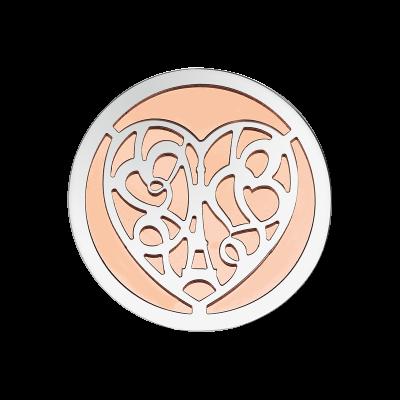 Coin Edelstahl Herz rosé 33mm CS250