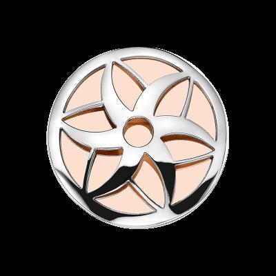 Coin Edelstahl Blüte rosé 33mm CS254