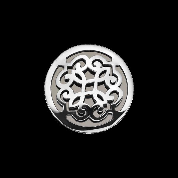Coin Edelstahl Ranke schwarz 25mm CS255