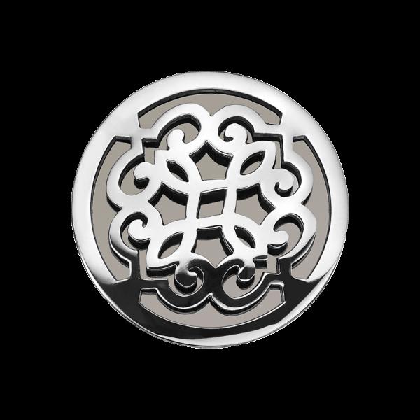 Coin Edelstahl Ranke schwarz 33mm CS256