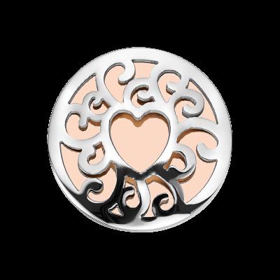 Coin Edelstahl Herz rosé 33mm CS258