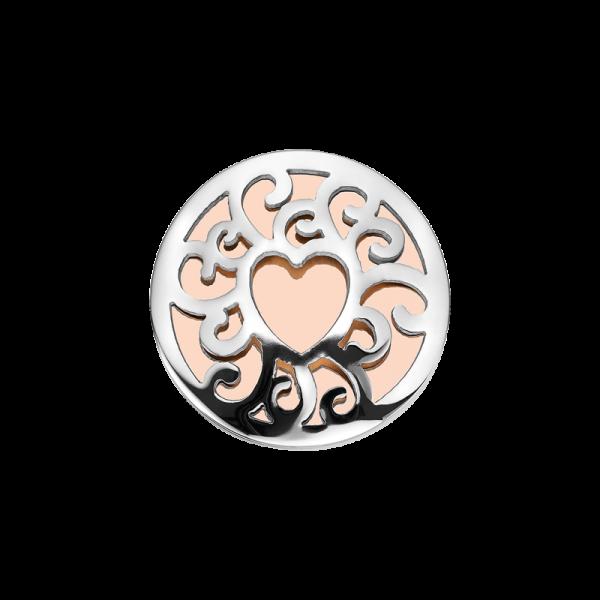 Coin Edelstahl Herz rosé 25mm CS257