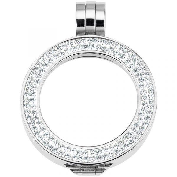 CEM Coin-Fassung mit Kristallen zweireihig 33mm