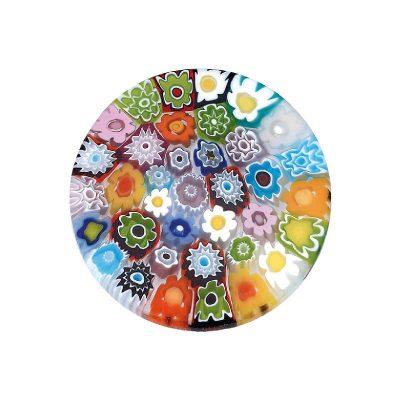 CEM Coin Muranoglas Blumenwiese 33mm