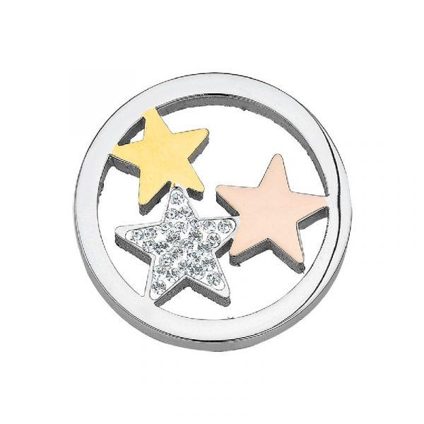 CEM Coin Edelstahl CS056 Sterne tricolor