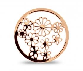 rosévergoldetes extradünnes Duo-Lockit mit einer Blume als Motiv