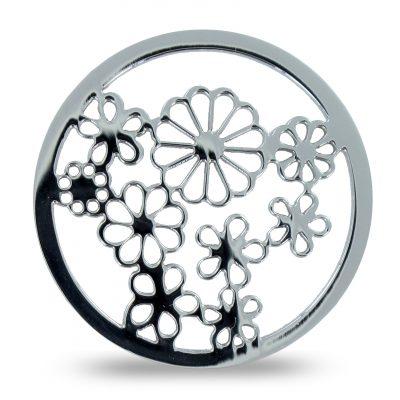 extra dünnes Duo-Lockit mit einer Blume als Motiv