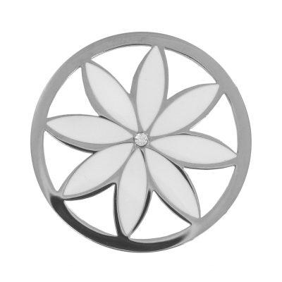 Lockit Edelstahl L1468 Blüte weiß