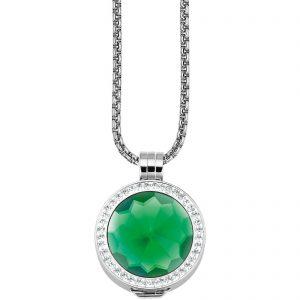Coin 3D Element Kristall grün für Coinketten