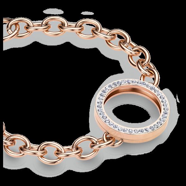 Armband Edelstahl rosé für Coins in 25mm CS260