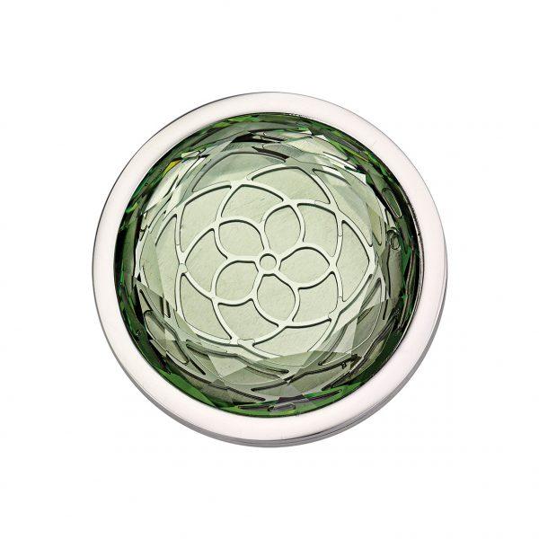 CEM Coin Element CS297 CS298 Kristall flaschengrün