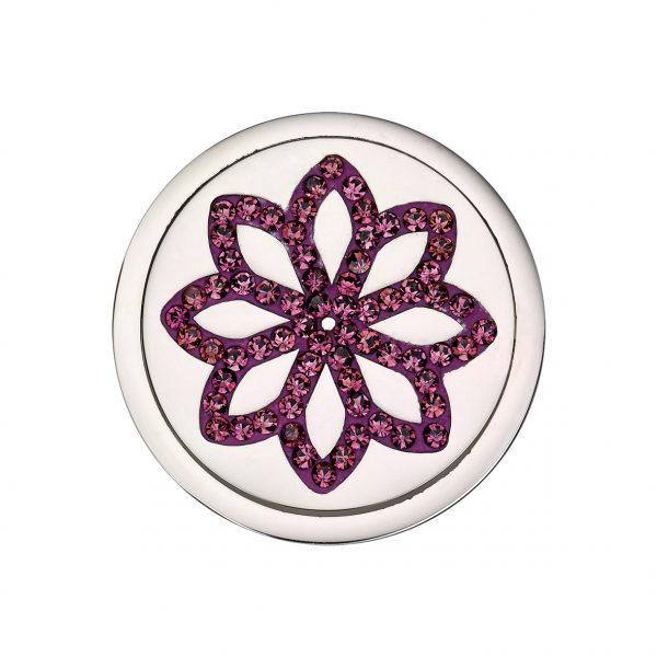 Coin Element drehbar Blume bicolor rosé CS311 CS312