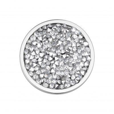 CEM Coin Element Kristalle silberfarben CS327 CS328