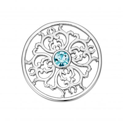 CEM Coin Element Blüte Kristall türkis CS339 CS340