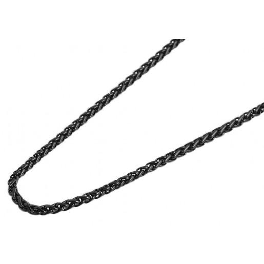 Kette Zopfkette Edelstahl schwarz IP ZS503 ZS603 ZS703