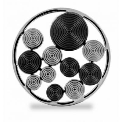 Lockit Kreise schwarz-silber L0511 L0510