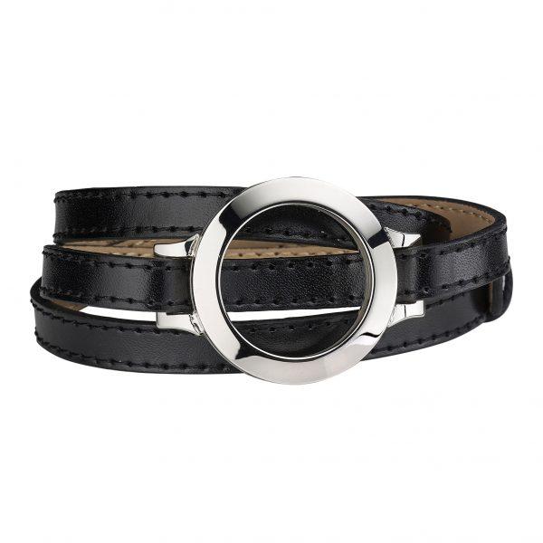 CS287 CEM Coin Armband Leder schwarz