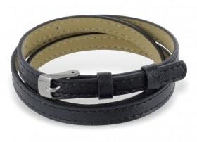 schwarzes Wickelarmband