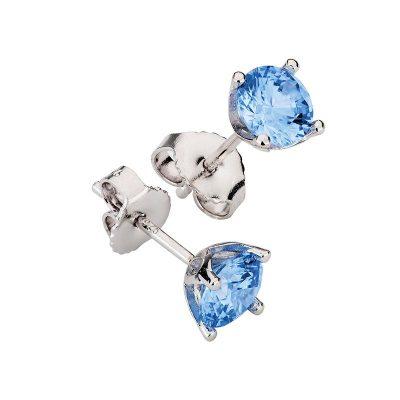 CEM Ohrstecker mit Swarovski-Kristall arctic-blue S-00366O